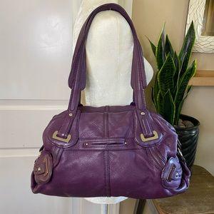 Pelle Studio Purple Leather Slouchy Shoulder Bag